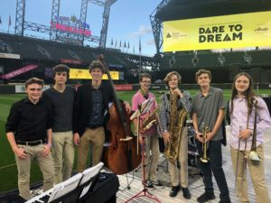 picture of jazz band combo at T-Mobile Park